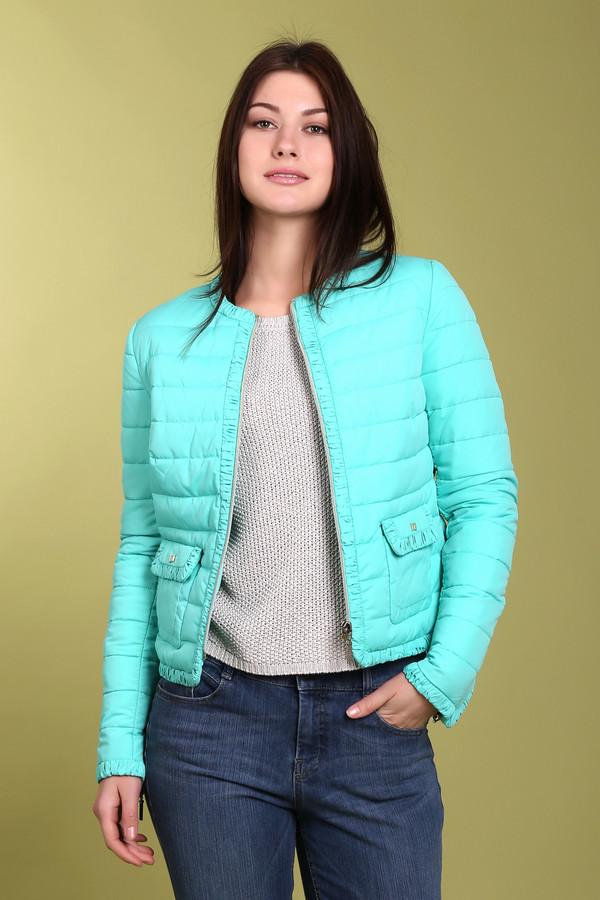 Куртка PezzoКуртки<br>Модная куртка для женщин от бренда Pezzo. Это куртка светло-бирюзового цвета, дополненная передними боковыми карманами, рюшами по краям куртки и на карманах, а также молниями на рукавах. Куртка изготовлена из 100% полиэстера.<br><br>Размер RU: 44<br>Пол: Женский<br>Возраст: Взрослый<br>Материал: полиэстер 100%<br>Цвет: Голубой