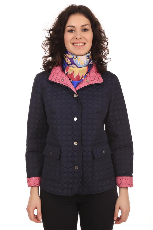 Куртка PezzoКуртки<br>Куртка Pezzo черного цвета, украшена фигурным швом, придающим одежде уникальную текстуру. Такая куртка защитит вас от холода, ветра и дождя весной и осенью. Благодаря материалу, из которого изготовлена куртка, вы не промокните под дождем. Внутренняя подкладка изготовлена из розовой ткани. Застегивается куртка на пуговицы-кнопки.<br><br>Размер RU: 44<br>Пол: Женский<br>Возраст: Взрослый<br>Материал: полиэстер 100%<br>Цвет: Чёрный
