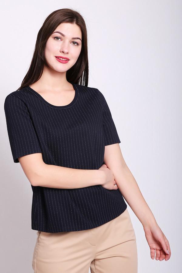 Пуловер BaslerПуловеры<br>Пуловер женский синего цвета фирмы Basler. Модель выполнена прямым фасоном. Изделие дополнено округлым воротом, втачными, короткими рукавами. Ткань имеет принт. Состав ткани: 6% эластан, 43% вискоза, 22% полиэстер, 29% полиамид. Гармонировать можно с различными брюками, юбками.