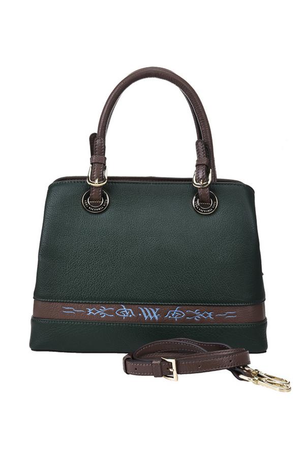 женская сумка vera victoria vito, зеленая