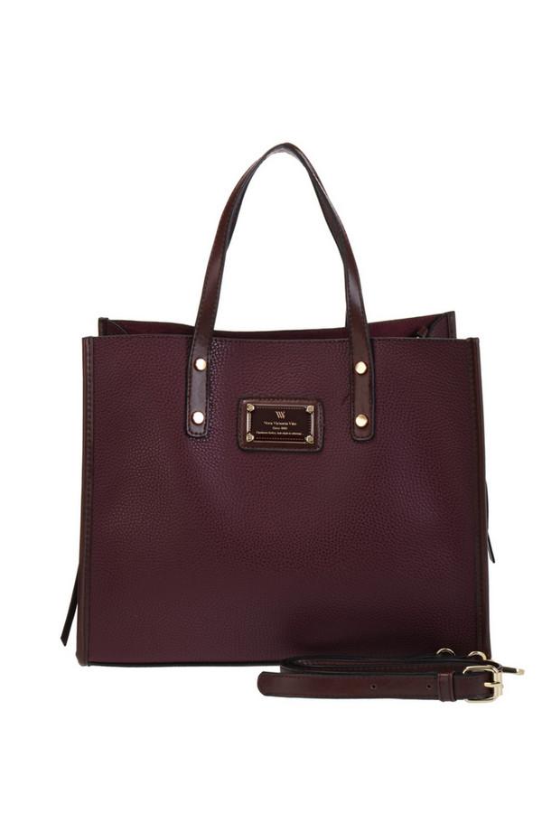 женская сумка vera victoria vito, бордовая