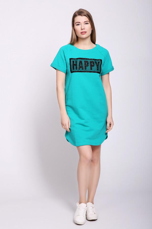Платье D.S.Платья<br>Платье женское с нашивкой Happy. Цвета: Беый, зеленый, меланж, серый, синий. Вид застежки: без застежки Вырез горловины: округлый Длина изделия: по спинке: S-86 см, M-87 см, L-88 см, XL-89 см, XXL-90 см Длина рукава: Короткий Покрой: свободный Рисунок: без рисунка Фактура материала: трикотажный Тип карманов: без карманов Декоративные элементы: нашивка Длина юбки\платья: Мини Конструктивные элементы: без разреза
