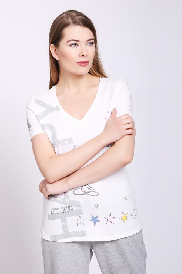 женская футболка oui, белая