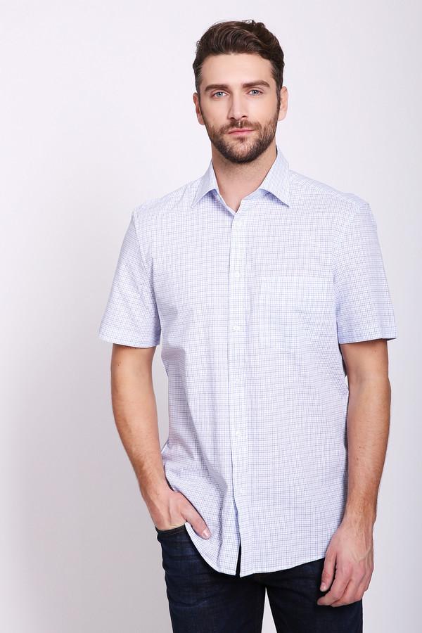 Мужские рубашки с коротким рукавом PezzoКороткий рукав<br>Мужские рубашки с коротким рукавом голубого цвета от бренда Pezzo. Модель выполнена прямым фасоном. Изделие дополнено откладным воротом на стойке, застежка на пуговицы, втачными, короткими рукавами, задней кокеткой. Ткань состоит из 100% хлопка. Комбинировать можно с различными брюками.