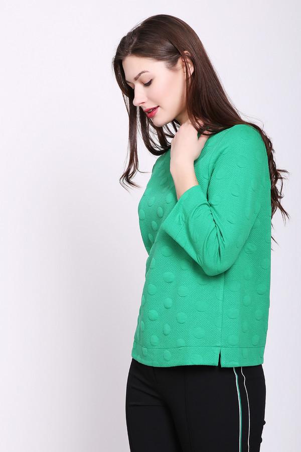 Пуловер BiancaПуловеры<br>Пуловер женский зеленого цвета фирмы Bianca. Модель выполнена прямым фасоном. Изделие дополнено округлым воротом, втачными рукавами 3/4 длинны. Состав ткани: 4% эластана, 48% вискозы, 48% полиэстер. Такой пуловер гармонично будет смотреться с различными брюками.