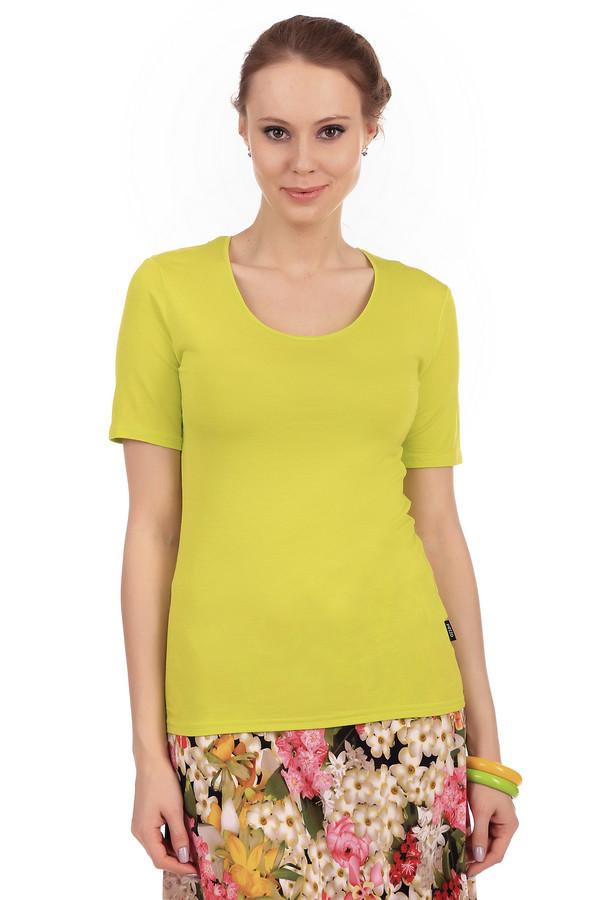 Футболка PezzoФутболки<br>Желтая однотонная женская футболка от бренда Pezzo прилегающего кроя. Изделие дополнено: круглым вырезом и короткими рукавами до середины плеча. Модель выполнена из приятного на ощупь вискозного материала с добавлением эластана. Имеет стрейчевые свойства. Футболку с легкостью можно носить с  кардиганами  или  жакетами .<br><br>Размер RU: 46<br>Пол: Женский<br>Возраст: Взрослый<br>Материал: эластан 5%, вискоза 95%<br>Цвет: Жёлтый