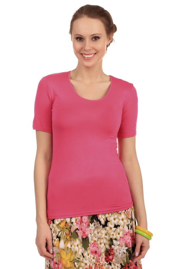 Футболка PezzoФутболки<br>Розовая однотонная женская футболка от бренда Pezzo прилегающего кроя. Изделие дополнено: круглым вырезом и короткими рукавами до середины плеча. Модель выполнена из приятного на ощупь вискозного материала с добавлением эластана. Имеет стрейчевые свойства. Футболку с легкостью можно носить с   кардиганами   или   жакетами  .<br><br>Размер RU: 46<br>Пол: Женский<br>Возраст: Взрослый<br>Материал: эластан 5%, вискоза 95%<br>Цвет: Розовый