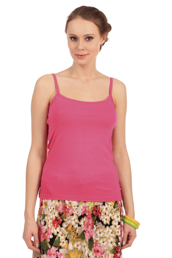 Топ PezzoТопы<br>Топ Pezzo розового цвета на тонких бретельках. Изготовлен из вискозы с незначительным добавлением эластина. Идеально подойдет для ношения в летнее время, или же в домашних условиях. Благодаря составу ткани, одежда очень приятная на ощупь и комфортная во время использования.<br><br>Размер RU: 46<br>Пол: Женский<br>Возраст: Взрослый<br>Материал: эластан 5%, вискоза 95%<br>Цвет: Розовый
