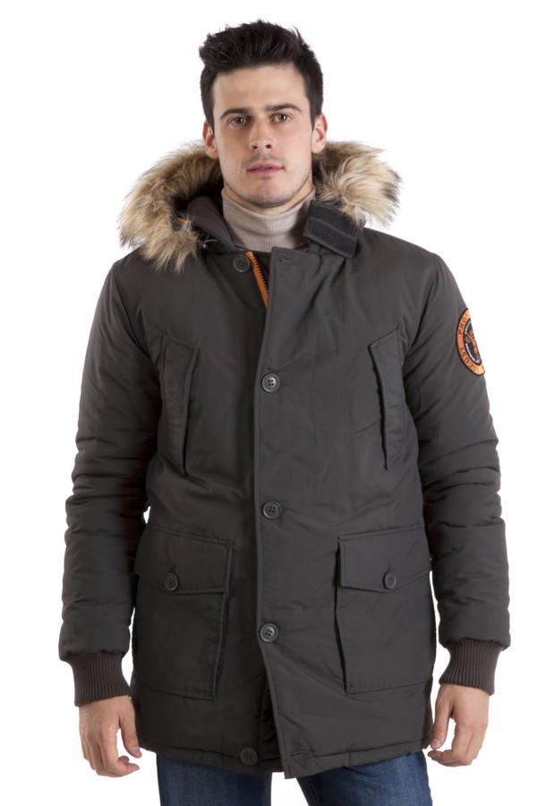 Куртка LocustКуртки<br>Мужская куртка Locust прямого кроя представлена в двух цветах, темно-синем и сером. Замечательный капюшон с отстегивающейся оторочкой из искусственного меха незаменим в холодную дождливую погоду. Центральная часть изделия застегивается на молнию и ветрозащитный клапан на пуговицах. Модель дополнена четырьмя внешними карманами, два нагрудных кармана застежка-кнопка и два накладных кармана на пуговицах. Манжеты оформлены трикотажной резинкой. Внутри изделия расположена резинка на поясе с ограничителями. В качестве подкладки использована ярко-красная стеганая ткань. Куртка выполнена из плотного высококачественного материала. Длина изделия до середины бедра.  Подкладка и утеплитель 100% полиэстер.<br><br>Размер RU: 52-54<br>Пол: Мужской<br>Возраст: Взрослый<br>Материал: нейлон 100%<br>Цвет: Разноцветный
