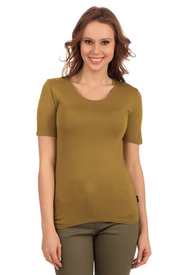 Футболка PezzoФутболки<br>Коричневая однотонная женская футболка от бренда Pezzo прилегающего кроя. Изделие дополнено: круглым вырезом и короткими рукавами до середины плеча. Модель выполнена из приятного на ощупь вискозного материала с добавлением эластана. Имеет стрейчевые свойства. Футболку с легкостью можно носить с   кардиганами   или   жакетами  .<br><br>Размер RU: 42<br>Пол: Женский<br>Возраст: Взрослый<br>Материал: эластан 5%, вискоза 95%<br>Цвет: Коричневый