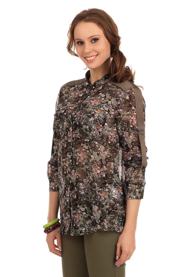 Блузa Marc CainБлузы<br>Легкая, полупрозрачная шелковая блуза Marc Cain sports. Блуза подойдет женщинам любого возраста, благодаря тонкому и нежному материалу и его интересной расцветке, а благодаря ее удлиненному фасону, она отлично подходит как под офисный костюм, так и под джинсы. На плечах блузы есть шелковые вставки кофейного цвета, а рукава можно заворачивать и пристегивать на пуговицу.<br><br>Размер RU: 46<br>Пол: Женский<br>Возраст: Взрослый<br>Материал: шелк 100%<br>Цвет: Разноцветный
