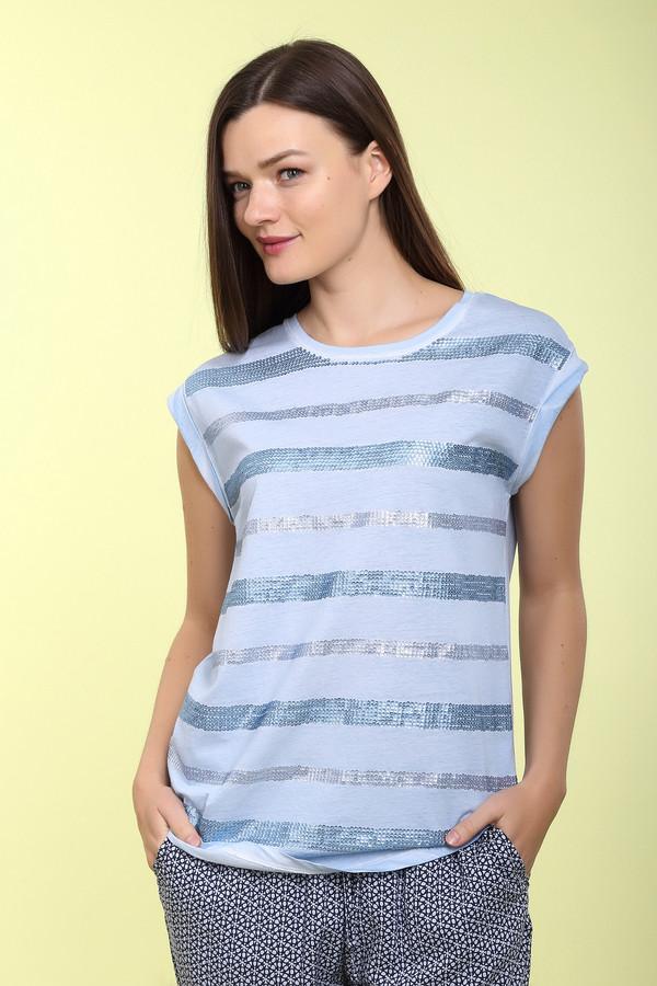 Футболка Via AppiaФутболки<br>Футболка Via Appia синего цвета украшена стразами. Стразы расположены в виде полосок по периметру футболки. Одежда изготовлена из натурального хлопка, благодаря чему футболка очень приятная на ощупь. Из-за короткого рукава футболку можно носить только в летнее время. Идеально подойдет для прогулок с друзьями или посещения университета.<br><br>Размер RU: 50<br>Пол: Женский<br>Возраст: Взрослый<br>Материал: хлопок 100%<br>Цвет: Синий