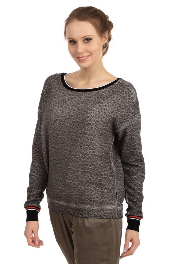 Пуловер Marc CainПуловеры<br>Модный женский пуловер со звериным принтом от бренда Marc Cain. Данный пуловер сшит из материала, в состав которого входят вискоза, хлопок и полиамид. Изделие дополнено: круглым вырезом и длинным рукавом с резинкой черного цвета в белую и красную полоску.<br><br>Размер RU: 40<br>Пол: Женский<br>Возраст: Взрослый<br>Материал: вискоза 50%, полиамид 15%, хлопок 35%<br>Цвет: Чёрный