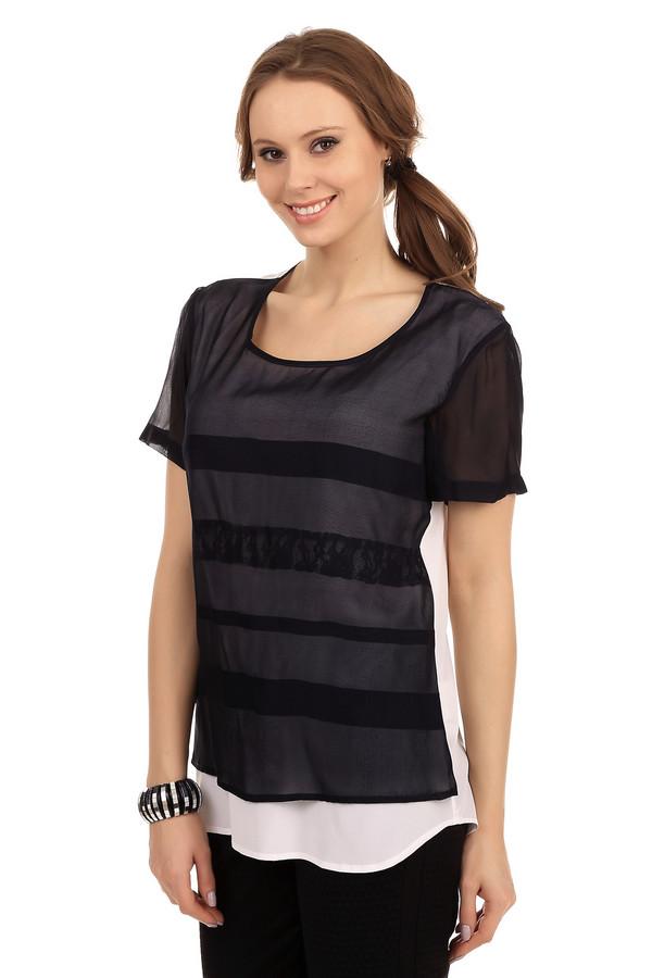 Блузa TuzziБлузы<br>Стильная женская блуза от бренда Tuzzi. Это блуза пошита из шелка с добавлением эластана. Спинка данной блузы белого цвета, а ее передняя часть и рукава выполнены в черном цвете с затемненными полосками из полупрозрачной ткани. У данного изделия круглый вырез и рукав длиной до середины плеча.<br><br>Размер RU: 44<br>Пол: Женский<br>Возраст: Взрослый<br>Материал: эластан 5%, шелк 95%<br>Цвет: Белый