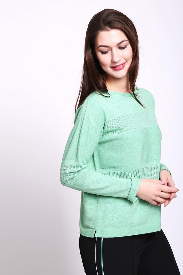 Пуловер Betty BarclayПуловеры<br>Пуловер женский зеленого цвета фирмы Betty Barclay. Модель выполнена прямым фасоном. Изделие дополнено округлым воротом, приспущенными, длинными рукавами. Ткань состоит из 50% вискозы, 23% полиэстера, 27% полиамида. Гармонировать можно с различными брюками.