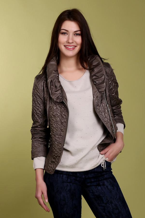 Куртка Just ValeriКуртки<br>Стеганная куртка укороченного кроя от бренда Just Valeri выполнена из легкого полиэстерового материала коричневого цвета. Оригинальная косая металлическая молния добавляет куртке неповторимую стильность. Отличный вариант для весны. Хорошо будет смотреться с джинсами, юбками и даже с брюками. Изделие дополнено: объемным воротником с завязками и декором по бокам в виде ремешков.<br><br>Размер RU: 40<br>Пол: Женский<br>Возраст: Взрослый<br>Материал: полиэстер 100%<br>Цвет: Коричневый