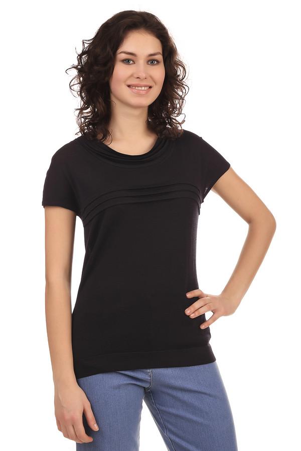 Пуловер PezzoПуловеры<br>Футболка для женщин от бренда Pezzo. Данная футболка выполнена в черном цвете из смеси вискозы и нейлона. У этой модели круглый вырез и короткий рукав. Изделие плотно сидит по фигуре, и дополнено защипами на груди и у выреза.<br><br>Размер RU: 52<br>Пол: Женский<br>Возраст: Взрослый<br>Материал: вискоза 63%, нейлон 37%<br>Цвет: Чёрный