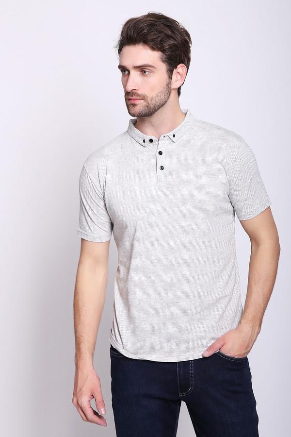 Поло PezzoПоло<br>Поло мужское серого цвета бренда Pezzo. Модель выполнена прямым фасоном. Изделие дополнено откладным воротом, втачными, короткими рукавами, застежка на кнопки. Состав ткани: 100% хлопка. Сочетать можно с различными брюками.