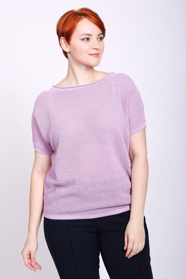 Пуловер PezzoПуловеры<br>Пуловер женский розового цвета бренда Pezzo. Модель выполнена прямым фасоном. Изделие дополнено округлым воротом, короткими рукавами реглан. Ткань состоит из 70% хлопок, 30% полиамид. Сочетать можно с различными брюками.