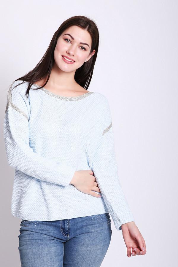 Пуловер PezzoПуловеры<br>Пуловер женский голубого цвета от бренда Pezzo. Модель выполнена прямым фасоном. Изделие дополнено округлым воротом, приспущенными, длинными рукавами. Состав ткани: 5% полиэстер, 43% хлопок, 52% акрил. Комбинировать можно с различными брюками.