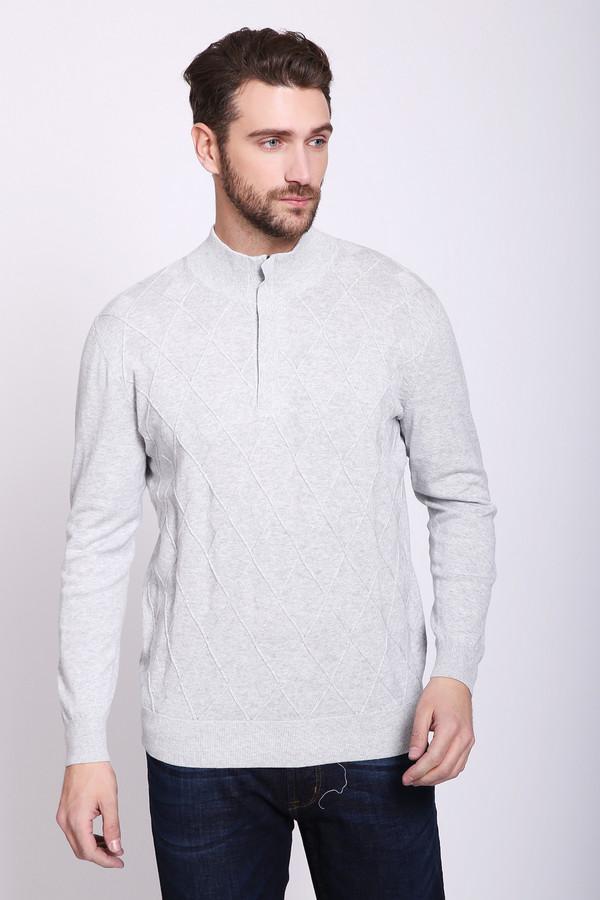 Джемпер PezzoДжемперы и Пуловеры<br>Джемпер мужской серого цвета бренда Pezzo. Модель выполнена прямым фасоном.