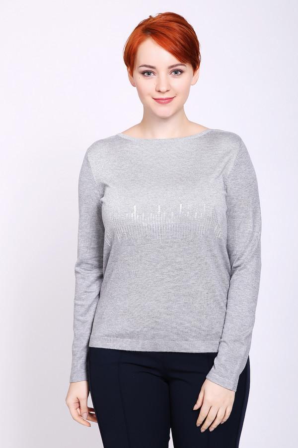 Пуловер PezzoПуловеры<br>Пуловер женский серого цвета бренда Pezzo. Модель выполнена прямым фасоном. Изделие дополнено округлым воротом, втачными, длинными рукавами. Состав ткани: 79% вискоза, 2% полиэстер, 18% полиамид, 1% металл. Сочетать можно с различными брюками.