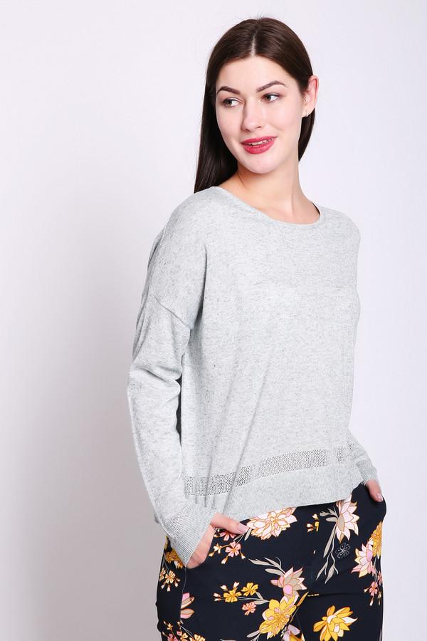 Пуловер PezzoПуловеры<br>Пуловер женский серого цвета от бренда Pezzo. Модель выполнена прямым фасоном. Изделие дополнено округлым воротом, приспущенными, длинными рукавами. Пуловер имеет полосатый принт. Ткань состоит из 70% полиэстера, 15% льна, 8% полиамида 7% металл. Комбинировать можно с различными брюками.