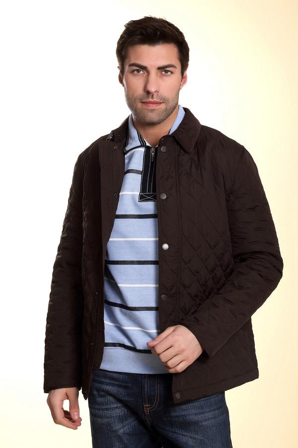 Куртка PezzoКуртки<br>Стильная классическая демисезонная стеганная куртка для мужчин от бренда Pezzo. Эта куртка темно-коричневого цвета, сшитая по классическому покрою. Изделие дополнено: отложным воротником, планкой на кнопка, большими боковыми карманами и длинными рукавами. Подобные куртки уже давно вошли в классику. Такая куртка хорошо смотрится как с классическими брюками, так и с простыми джинсами.<br><br>Размер RU: 58<br>Пол: Мужской<br>Возраст: Взрослый<br>Материал: полиэстер 100%<br>Цвет: Коричневый