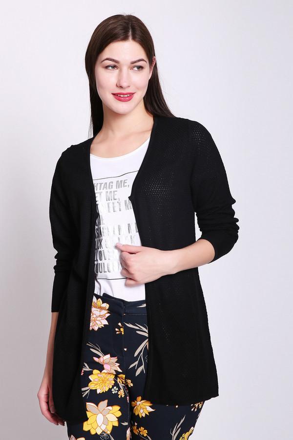 Жакет PezzoЖакеты<br>Жакет женский черного цвета от бренда Pezzo. Модель выполнена прямым фасоном. Изделие дополнено округлым воротом с V - образным вырезом с запахом, втачными, длинными рукавами. Такая модель может объединить ваш наряд. Ткань состоит из 50% вискозы, 50% акрила. Комбинировать можно с различными брюками, футболками, блузами.