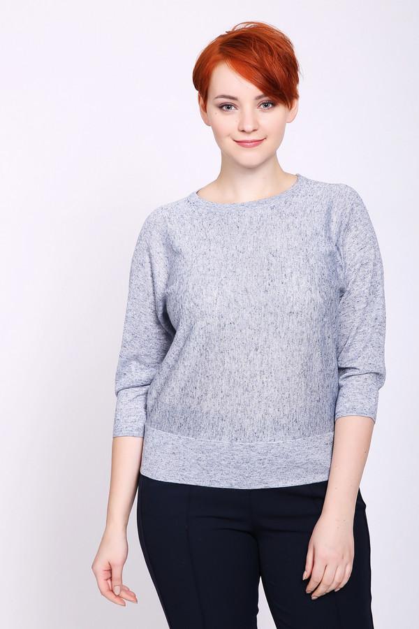 Пуловер PezzoПуловеры<br>Пуловер женский серого цвета бренда Pezzo. Модель выполнена прямым фасоном. Изделие дополнено округлым воротом, рукавами 3/4 длины реглан. Сзади расположена имитация застежки с пуговицами. Состав ткани: 70% полиэстер, 15% лен, 8% полиамид, 7% металл. Сочетать с различными брюками.