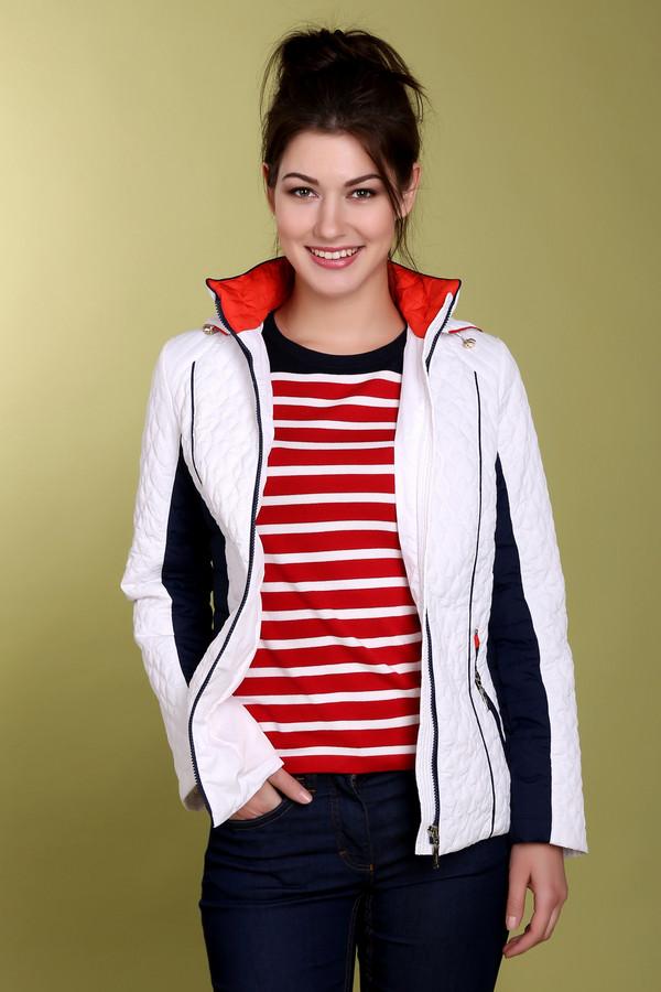 Куртка PezzoКуртки<br>Стильная женская стеганная куртка от бренда Pezzo. Куртка представлена в белом цвете и декорирована темно-синими вставками по бокам. Изделие дополнено вертикальными боковыми карманами на молниях, а также капюшоном с резинкой. Состав материала, из которого куртка изготовлена - 100% полиэстер.<br><br>Размер RU: 42<br>Пол: Женский<br>Возраст: Взрослый<br>Материал: полиэстер 100%<br>Цвет: Чёрный