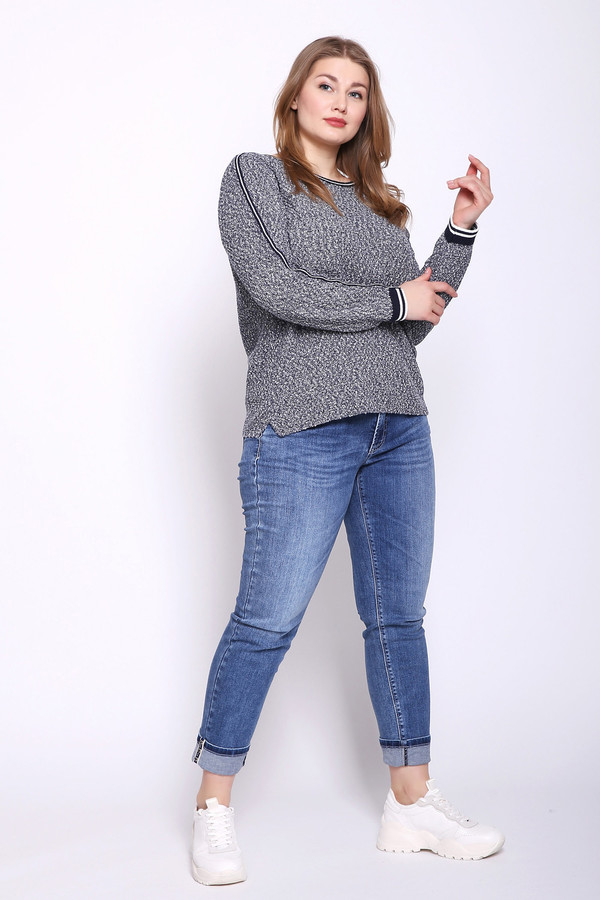 Фото 2 - Женский пуловер Via Appia серого цвета