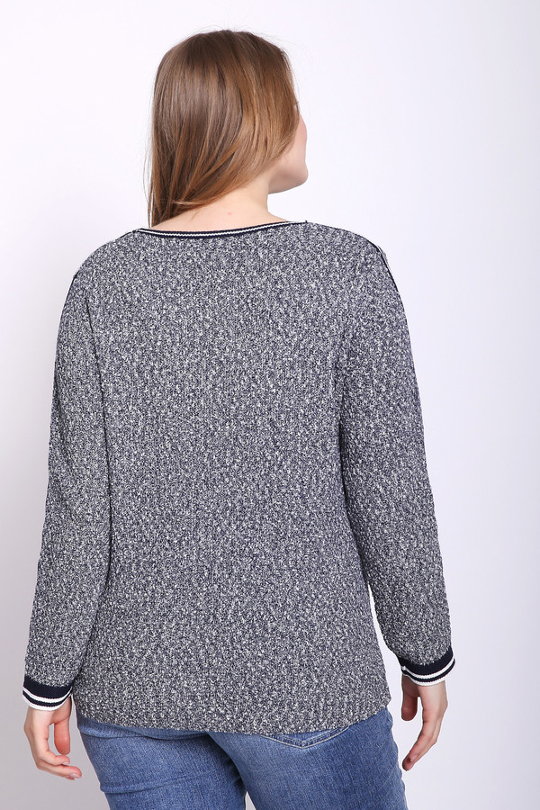 Фото 3 - Женский пуловер Via Appia серого цвета
