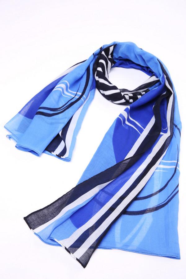Шарф Gerry WeberШарфы<br>Шарф синего цвета фирмы Gerry Weber. Ткань состоит из 100% хлопка. Ткань имеет разноцветный принт. Разнообразие оттенков можно использовать при выборе комплекта, создавая новый образ. Хлопковые шарфы приятны на ощупь и комфортны при носке.