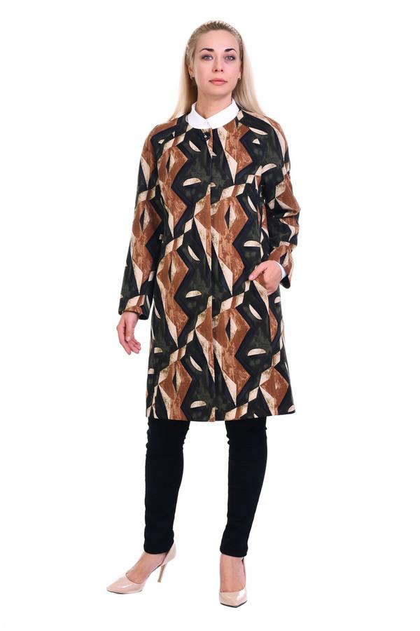 Кардиган OLSIКардиганы<br>Стильный кардиган-пальто, легкий, весенний, неотразимый, выполненный из ткани, напоминающей замшу наощупь, карманы, потайная застежка. Идеально смотрится с водолазкой или в принципе расстегнутым.  Вид застежки: на пуговицах Вырез горловины: округлый Длина изделия: по спинке: 48-99,5см, 50-100см 52-100,5см 54-101см 56-101,5см 58-102см 60-102,5см 62-103см 64-103,5см 66-104см 68-104,5см 70-105см  Длина рукава: 64 см Покрой: прямой Рисунок: геометрический Фактура материала: текстильный Тип карманов: втачной Декоративные элементы: без элементов Конструктивные элементы: на подкладке