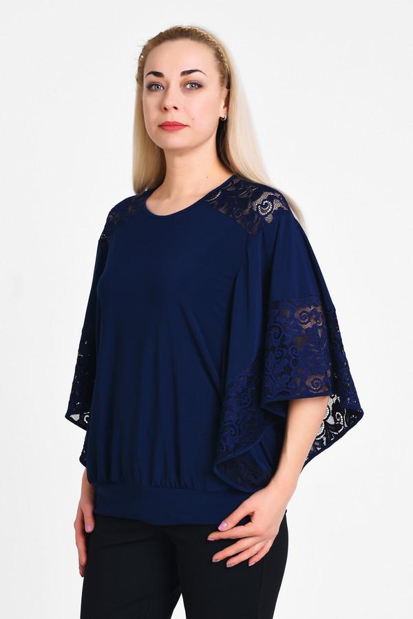 Блузa OLSIБлузы<br>Элегантная блуза в стиле летучая мышка, очень комфортно носится и сочетается с любым предметом оеджды повседневного или нарядного стилей. Сочетание гладкой ткани с эластаном и эластичной кружевной ткани.  Вид застежки: Без застежки Вырез горловины: округлый Длина изделия по спинке: р. 48 - 69 см, р. 50 - 69,5 см, р. 52 - 70 см, р. 54 - 70,5 см, р. 56 - 71 см, р. 58 - 71,5 см, р. 60 - 72 см, р. 62 - 72,5 см, р. 64 - 73 см, р. 66 - 73,5 см, р. 68 - 74 см, р. 70 - 74,5 см Длина рукава: 37см Покрой: свободный Рисунок: без рисунка Фактура материала: текстильный, кржевной Тип карманов: без карманов Декоративные элементы: без элементов Конструктивные элементы: без разреза