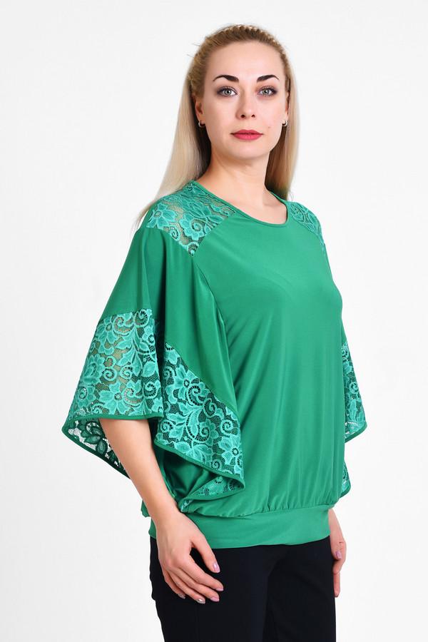 Блузa OLSIБлузы<br>Элегантная блуза в стиле летучая-мышка, очень комфортно носится и сочетается с любым предметом оеджды повседневного или нарядного стилей. Сочетание гладкой ткани с эластаном и эластичной кружевной ткани.  Вид застежки: Без застежки Вырез горловины: округлый Длина изделия по спинке: р. 48 - 69 см, р. 50 - 69,5 см, р. 52 - 70 см, р. 54 - 70,5 см, р. 56 - 71 см, р. 58 - 71,5 см, р. 60 - 72 см, р. 62 - 72,5 см, р. 64 - 73 см, р. 66 - 73,5 см, р. 68 - 74 см, р. 70 - 74,5 см Длина рукава: 37см Покрой: свободный Рисунок: без рисунка Фактура материала: текстильный, кружевной Тип карманов: без карманов Декоративные элементы: без элементов Конструктивные элементы: без разреза