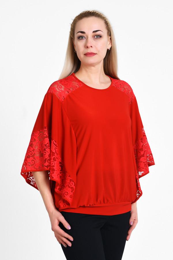 Блузa OLSIБлузы<br>Элегантная блуза в стиле летучая-мышка, очень комфортно носится и сочетается с любым предметом оеджды повседневного или нарядного стилей. Сочетание гладкой ткани с эластаном и эластичной кружевной ткани.  Вид застежки: Без застежки Вырез горловины: округлый Длина изделия по спинке: р. 48 - 69 см, р. 50 - 69,5 см, р. 52 - 70 см, р. 54 - 70,5 см, р. 56 - 71 см, р. 58 - 71,5 см, р. 60 - 72 см, р. 62 - 72,5 см, р. 64 - 73 см, р. 66 - 73,5 см, р. 68 - 74 см, р. 70 - 74,5 см Длина рукава: 37см Покрой: свободный Рисунок: без рисунка Фактура материала: текстильный, кржевной Тип карманов: без карманов Декоративные элементы: без элементов Конструктивные элементы: без разреза
