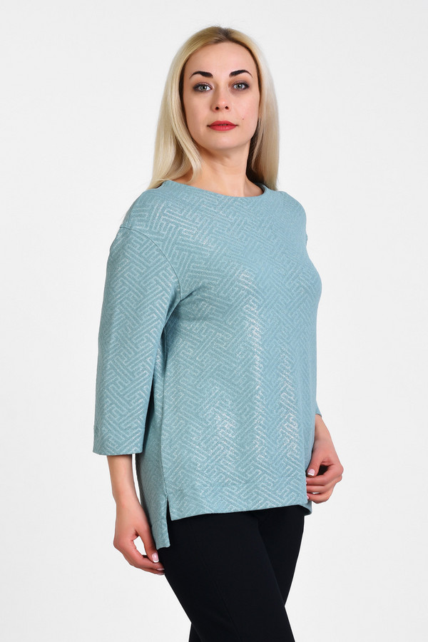 Блузa OLSIБлузы<br>Аккуратная, нарядная блузка в стиле спорт-шик, ткань содержит 10% эластана, что обеспечивает идеальную посадку на любой тип фигуры плюс-сайз. Красиво сочетать с брюками 7/8, с капри.  Вид застежки: Без застежки Вырез горловины: округлый Длина изделия по спинке: р. 48 - 72 см, р. 50 - 72,5 см, р. 52 - 73 см, р. 54 - 73,5 см, р. 56 - 74 см, р. 58 -74,5 см, р. 60 - 75 см, р. 62 - 75,5 см, р. 64 - 76 см, р. 66 - 76,5 см, р. 68 - 77 см, р. 70 - 77,5 см Длина рукава: 3/4 Покрой: полуприлегающий Рисунок: набивной по ткани Фактура материала: текстильный Тип карманов: без карманов Декоративные элементы: без элементов Конструктивные элементы: без разреза