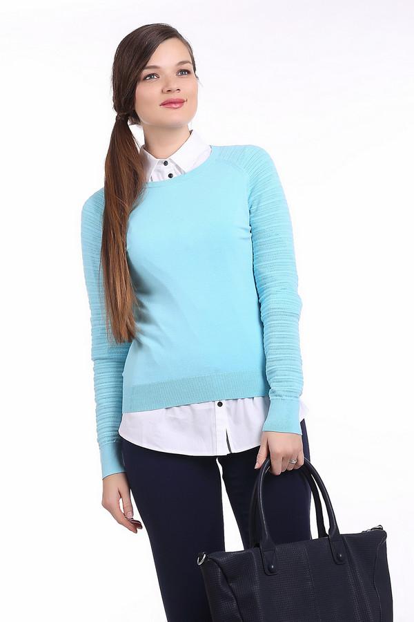 Пуловер PezzoПуловеры<br>Стильный женский пуловер светло-голубого цвета. Изделие дополнено: круглым вырезом, длинным рукавом и металлическими пуговицами на спине. Также, снизу, у выреза и на рукавах есть резинки. Данный пуловер пошит из материала, который на 70% состоит из вискозы и на 30% из полиэстера.<br><br>Размер RU: 48<br>Пол: Женский<br>Возраст: Взрослый<br>Материал: вискоза 70%, полиэстер 30%<br>Цвет: Голубой