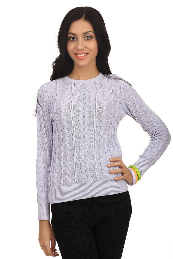 Пуловер PezzoПуловеры<br>Женский пуловер от бренда Pezzo нежного сиреневого цвета декорирован ажурным вязанным узором. Изделие дополнено: круглым вырезом и длинными рукавами. Ворот, манжеты и нижний кант оформлены эластичной трикотажной резинкой. Материал, из которого изготовлен данный пуловер - 100% хлопок.<br><br>Размер RU: 54<br>Пол: Женский<br>Возраст: Взрослый<br>Материал: хлопок 100%<br>Цвет: Сиреневый