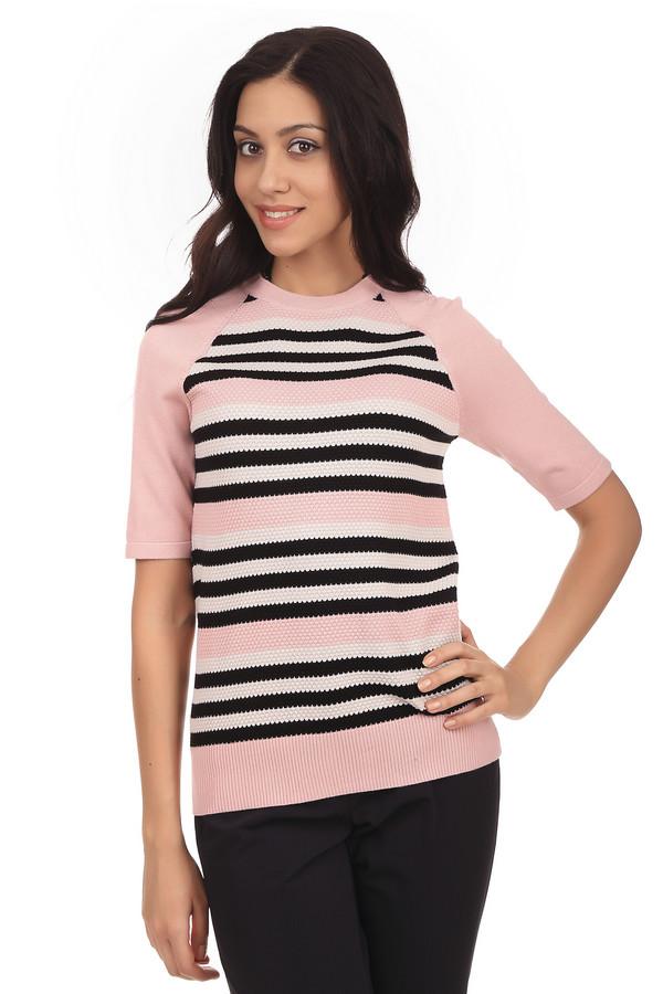 Пуловер PezzoПуловеры<br>Модный женский пуловер от бренда Pezzo. Этот пуловер связан из вискозы, с добавлением полиамида. Изделие представлено в нежно-розовом оттенке в белую и черную полоску, и дополнено классическим круглым вырезом, рукавом длиной до середины плеча, а также резинкой в нижней части.<br><br>Размер RU: 46<br>Пол: Женский<br>Возраст: Взрослый<br>Материал: полиамид 32%, вискоза 68%<br>Цвет: Разноцветный