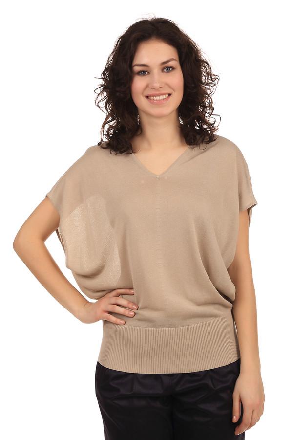 Пуловер PezzoПуловеры<br>Женский пуловер бренда Pezzo свободного покроя. Это пуловер-безрукавка с V-образным вырезом и низом на широкой резинке. Изделие пошито из материала, в состав которого входят вискоза и хлопок.<br><br>Размер RU: 50<br>Пол: Женский<br>Возраст: Взрослый<br>Материал: вискоза 70%, хлопок 30%<br>Цвет: Бежевый