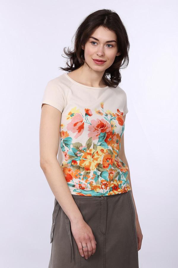 Пуловер PezzoПуловеры<br>Модный женский пуловер от бренда Pezzo. Данный пуловер представлен в бежевом цвете и украшен ярким цветочным принтом. У данного пуловера круглый вырез и короткий рукав. Изделие сшито из натурального 100% хлопка.<br><br>Размер RU: 46<br>Пол: Женский<br>Возраст: Взрослый<br>Материал: хлопок 100%<br>Цвет: Разноцветный