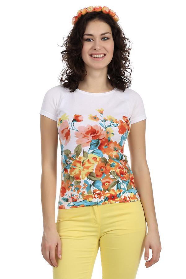 Пуловер PezzoПуловеры<br>Модный женский пуловер от бренда Pezzo. Данный пуловер представлен в белом цвете и украшен ярким цветочным принтом. У данного пуловера круглый вырез и короткий рукав. Изделие сшито из натурального 100% хлопка.<br><br>Размер RU: 44<br>Пол: Женский<br>Возраст: Взрослый<br>Материал: хлопок 100%<br>Цвет: Разноцветный