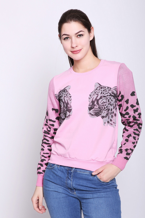 женский пуловер d.s, розовый