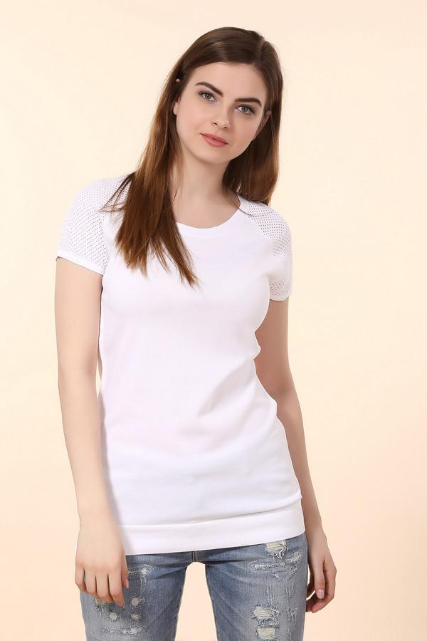 Пуловер PezzoПуловеры<br>Стильный женский пуловер белого цвета от бренда Pezzo. Пуловер слегка удлинен, его низ на резинке с небольшими вырезами. Кроме того, рукава изделия короткие, перфорированы, а вырез круглый. Пошит данный пуловер из вискозы с добавлением нейлона.<br><br>Размер RU: 44<br>Пол: Женский<br>Возраст: Взрослый<br>Материал: вискоза 63%, нейлон 37%<br>Цвет: Белый