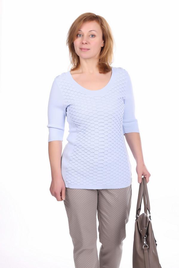 Пуловер PezzoПуловеры<br>Оригинальный пуловер для женщин от бренда Pezzo. Это пуловер светло-сиреневого цвета, который пошит из материала, состоящего на 63% из вискозы и на 37% из нейлона. Данное изделие дополнено: круглым вырезом, рукавом длиной до локтя и оригинальными вязанными узорами на передней части пуловера.<br><br>Размер RU: 54<br>Пол: Женский<br>Возраст: Взрослый<br>Материал: вискоза 63%, нейлон 37%<br>Цвет: Сиреневый