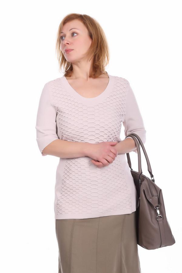 Пуловер PezzoПуловеры<br>Оригинальный пуловер для женщин от бренда Pezzo. Это пуловер светло-розового цвета, который пошит из материала, состоящего на 63% из вискозы и на 37% из нейлона. Данное изделие дополнено: круглым вырезом, рукавом длиной до локтя и оригинальными вязанными узорами на передней части пуловера.<br><br>Размер RU: 52<br>Пол: Женский<br>Возраст: Взрослый<br>Материал: вискоза 63%, нейлон 37%<br>Цвет: Розовый