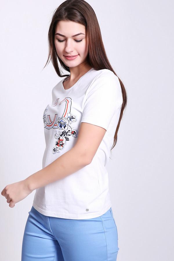 женская футболка с коротким рукавом gerry weber, белая